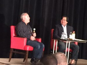 Rick Rudman and Tien Wong during Fireside Chat